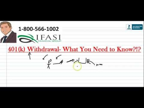 401k withdrawal - How to take 401k withdrawals