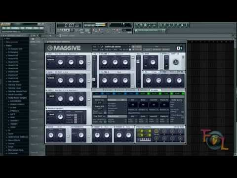 NI Massive: How to make a Hard Electro Bass (From Avicii's Silhouettes - Disco Fries Remix)
