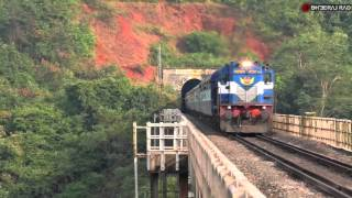 Konkan Railway: Trains Bursting out of Tunnels at MPS!
