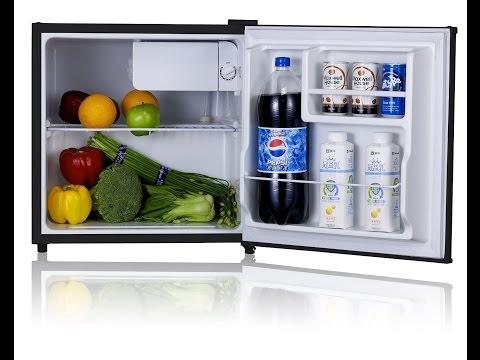 Midea WHS-65LB1 Compact Single Reversible Door Refrigerator and Freezer, 1.6 Cubic Feet, Black
