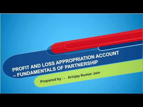 Preparation of Profit and Loss Appropriation Account   Manager Commission