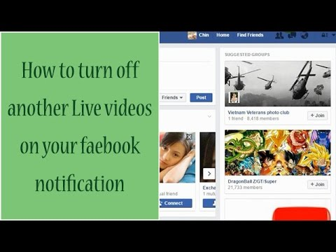 How to turn off another live videos on your facebook notification year 2016
