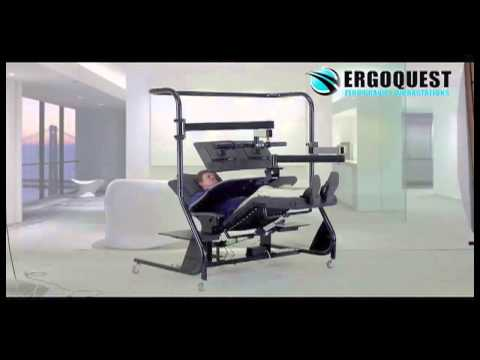 Zero Gravity Chair with Monitor arm and Keyboard Tray