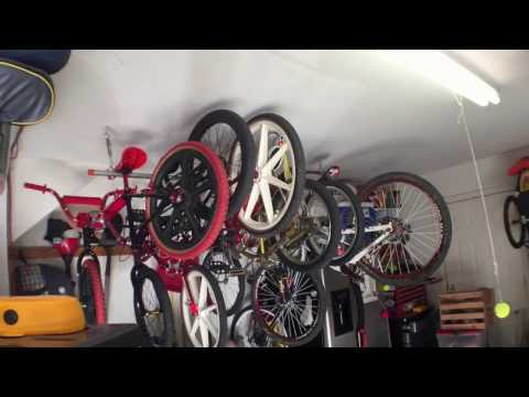 DIY Bicycle Rack - Hang bikes from Ceiling