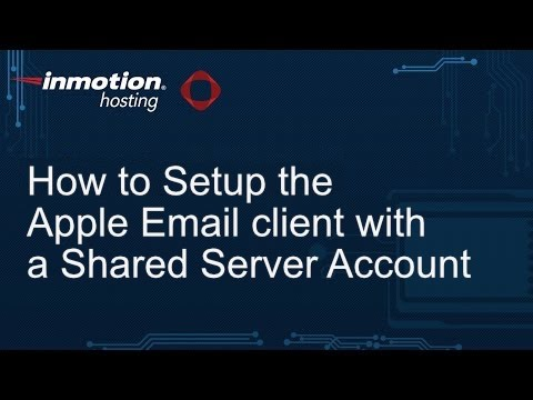 How to Setup the Apple Email Client with a Shared Server Account