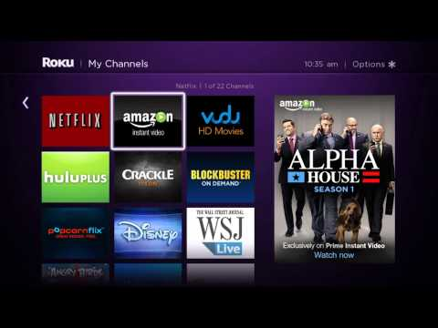 How to Connect your Roku to Amazon Instant Video