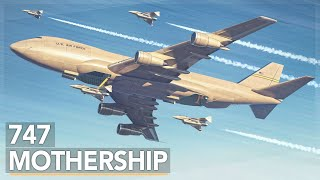 The Air Force's Crazy 747 Aircraft Carrier Concept