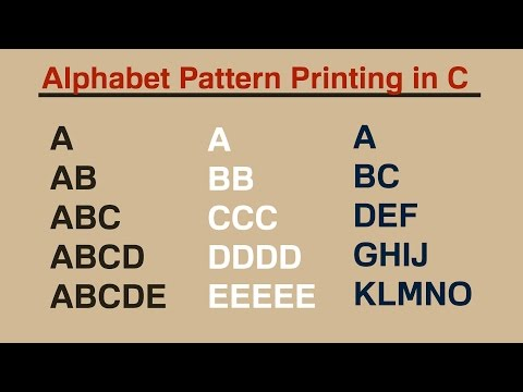 Alphabet Pattern Printing in C (HINDI)