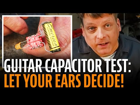 Guitar capacitor tester: let your ears decide