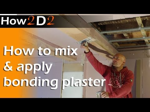 How to mix up and apply bonding plaster Plastering edging beading