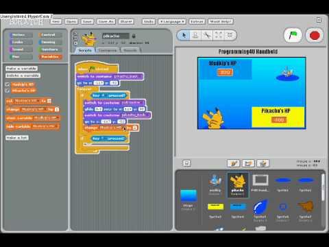 Scratch Tutorial Pokemon Battle P3
