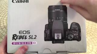 Canon EOS Rebel SL2 DSLR Camera Unboxing and Overview