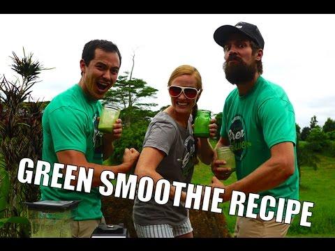 Green Smoothie Recipe (w/ RainBeauJo's) - BenjiManTV