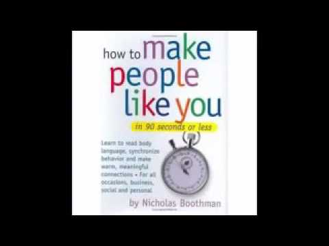 How to Make People Like You In 90 Second (Full Audiobook)