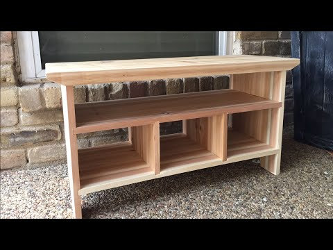 Small  Wooden Bench for a Porch or Entryway