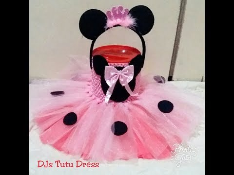 DIY How to make Minnie mouse tutu dress for girls birthdays