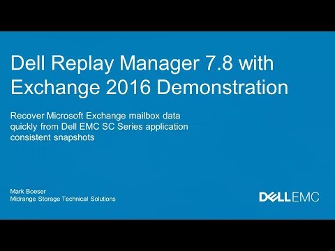 Replay Manager 7.8 with Microsoft Exchange 2016