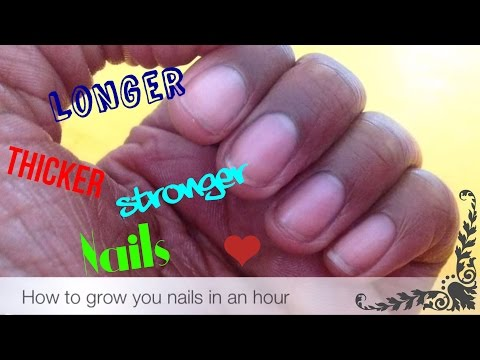 How to grow your nails in an hour