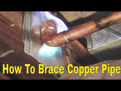 How to Brace Copper Pipe 👍👍👍