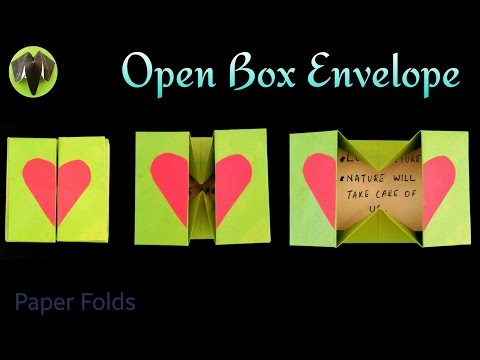 Open Box Envelope ✉ - DIY Origami Tutorial by Paper Folds ❤️ 🙏
