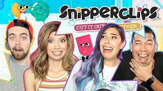 CUTTING FRIENDSHIPS IN HALF w/ Gloom - Snipperclips   Nintendo Switch