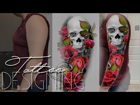 TATTOO SLEEVE STEP BY STEP - Designing a sleeve with Photoshop