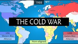 The Cold War - 45 years of a world conflict explained on a map