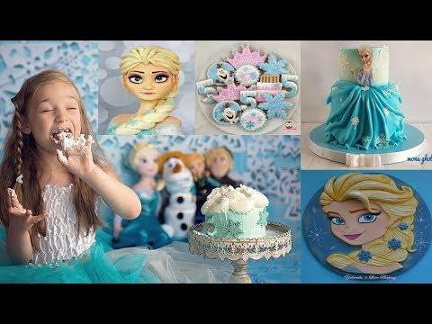 أكثر من 150 تورتة على شكل إلسا و أنا فروزن Elsa & Anna Frozen Cakes - أفكار لأعياد الميلاد والحفلات