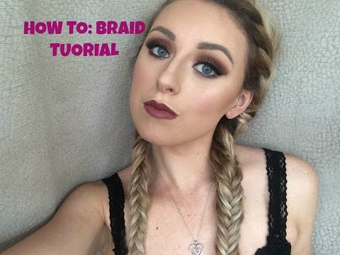 HOW TO: french braid/ fishtail pigtails