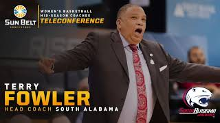 South Alabama Terry Fowler: 2020 Sun Belt Women's Basketball Midseason Media Teleconference