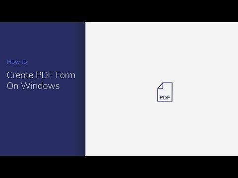 Create PDF Form on Windows with PDFelement