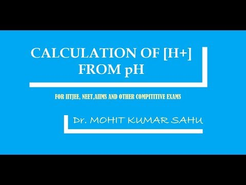CALCULATION OF HYDROGEN ION CONCENTRATION [H+] FROM pH (IONIC EQUILIBRIUM PART 15)