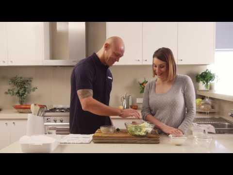 Michael Klim makes our Zucchini Rice Slice