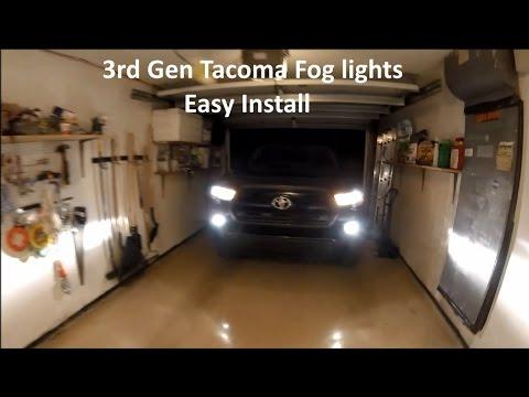 3rd Gen Toyota Tacoma SR Fog Light Install