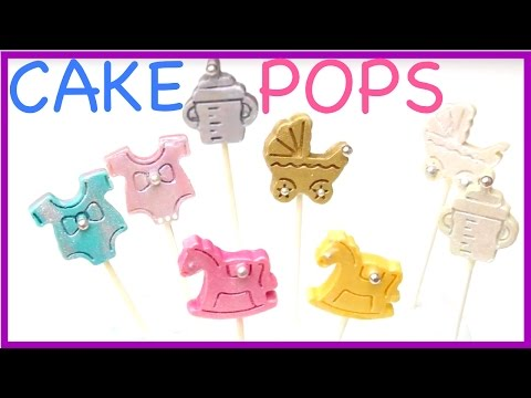 how to make BABY SHOWER CAKE POPS!