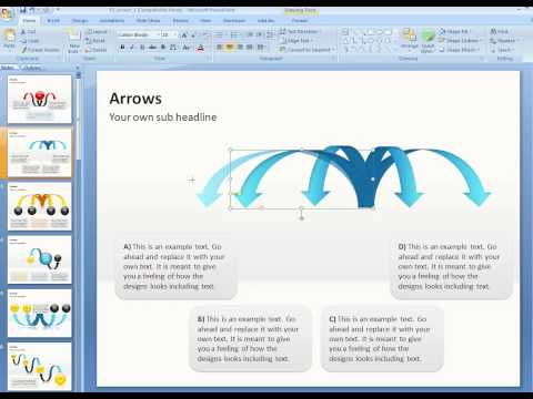 How to customize curved arrows in PowerPoint