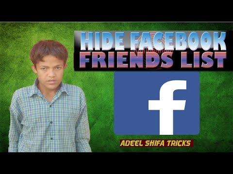 How to Hide Facebook Friend List Hindi/Urdu adeel shifa tricks