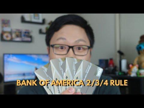 New Bank of America 2/3/4 Rule