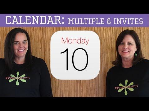 iPhone / iPad Calendar - Multiple Calendars & Invitations