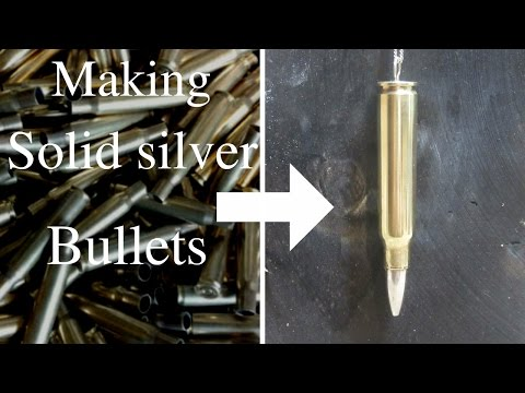 Making silver bullets/necklace charm