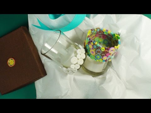 How to Make a Fabric Coil Candle Votive