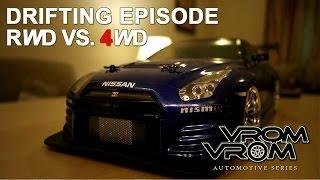 RWD VS. 4WD | Drifting on Nissan GTR RC | تحويل أر سى نيسان فاتيرا من دفع رباعى إلى خلفى وعمل دريفت