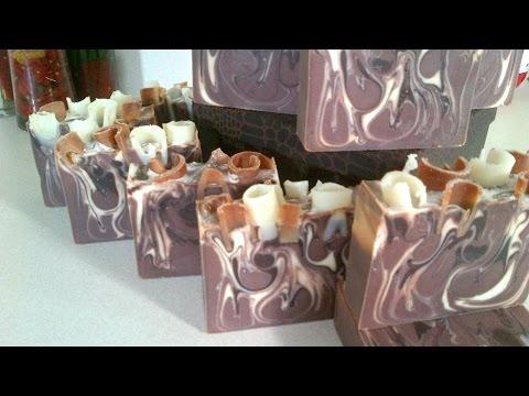 Making & Cutting 'VanHazelnutt' CP Soap