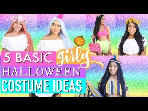 5 Last Minute BASIC One Minute GIRLY HALLOWEEN COSTUMES | Paris & Roxy