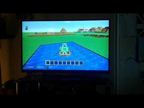 How to ride elytra wings and get a ender dragon head to move in Minecraft PS3 by Snow Golem