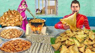 समोसा खाना पकाने की चुनौती 1000 Samosa Cooking Challenge Comedy Video हिंदी कहानिया Hindi Kahaniya