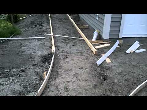 Garage Build Part 14 - Building curved concrete sidewalk forms