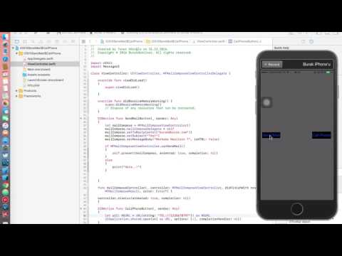 iOS 10 Send Mail & Call Phone Number Swift-3 xCode 8