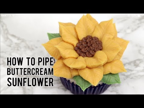 How To Pipe Buttercream Sunflower