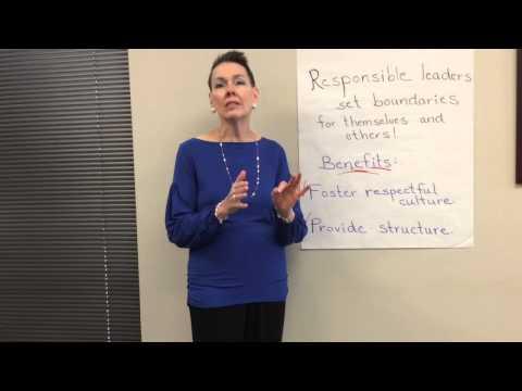 Responsible leaders set boundaries